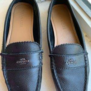 Coach ladies black flats 6.5 B